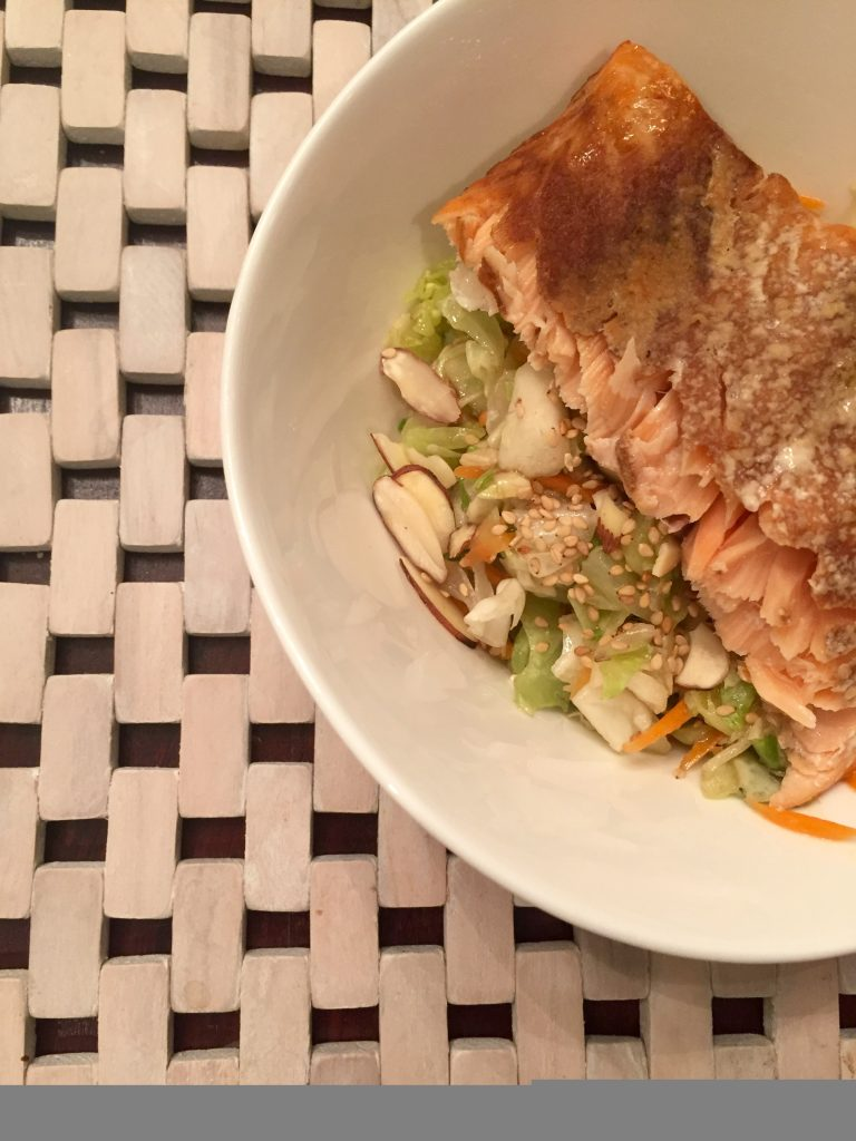 Salmon and Asian Slaw