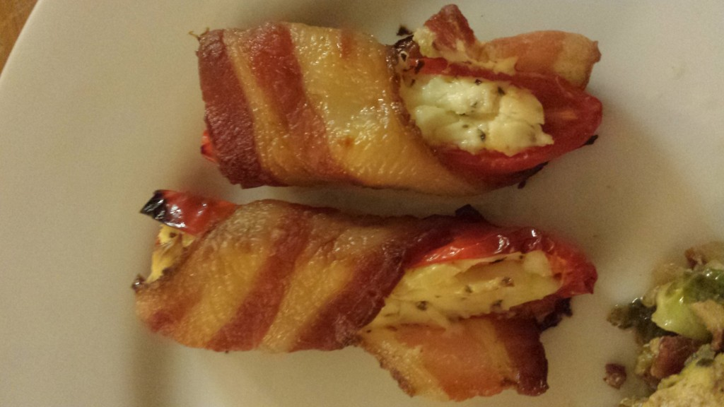 Bacon Wrapped Stuffed Peppers