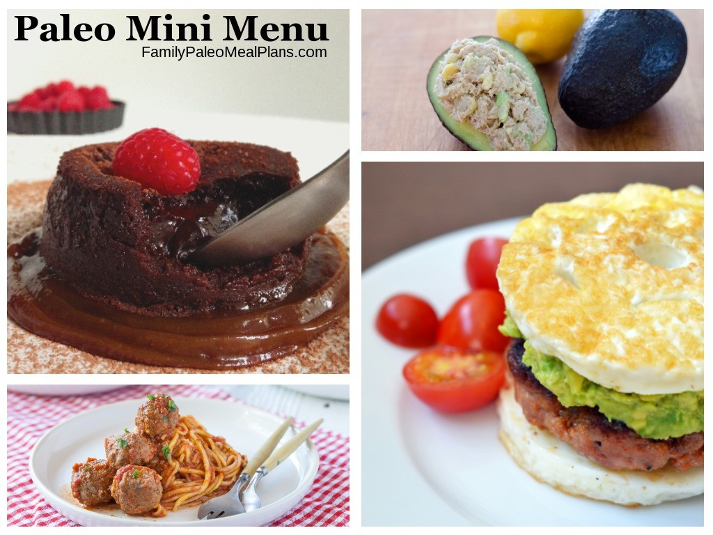 Paleo Mini Meal Plan